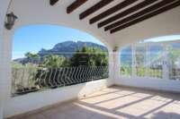 Villa spacieuse sur Monte Pego avec l'une des meilleures vues sur la mer de la Costa Blanca - Terrasse couverte