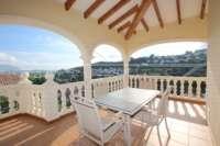 Top gepflegte 3 SZ Villa in bester Bauqualität mit herrlichem Blick in Orba - Terrasse mit Panoramablick