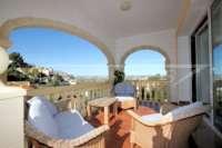Villa de 3 chambres dans une belle vue panoramique sur Monte Solana à Pedreguer - Terrasse couverte