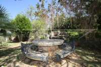 Villa mediterránea en una parcela privada con fantásticas vistas en Monte Pego - Zona de barbacoa