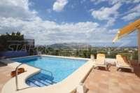 Neuwertige Villa in Pedreguer mit diversen Extras und herrlichem Panoramablick - Offener Blick