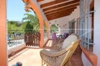 Jolie villa de 3 chambres sur un terrain plat avec une belle exposition au sud sur Monte Pego - Terrasse