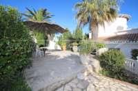 Imposante Villa mit Meerblick und separatem Gästezimmer in Denia - Galeretes - Terrasse