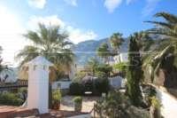 Imposante Villa mit Meerblick und separatem Gästezimmer in Denia - Galeretes - Blick auf den Montgo