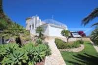 Klassische elegante Villa mit traumhaftem Panoramablick am Monte Pego - Mediterraner Garten