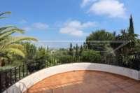 Villa de lujo mediterránea con vistas al mar en Monte Pego - Terraza con vistas