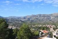 Moderne 4 SZ Villa mit einmaligem Blick über das Orba Tal bis zum Mittelmeer - Außblick auf Orba