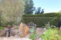 Großzügiger Wohnkomfort mit traumhaftem Meerblick am Monte Pego - Gartenbank
