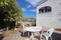 Bonita villa con piscina y vistas al valle de Orba - terraza