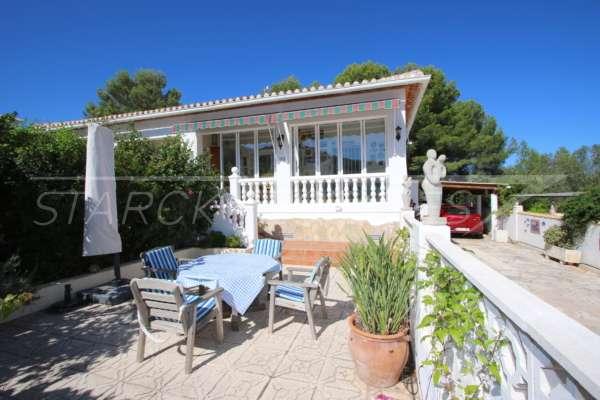 Jolie maison mitoyenne bien entretenue avec piscine commune à Rafol de Almunia, 03769 El Ràfol d'Almúnia (Espagne), Moitié de maison jumelée
