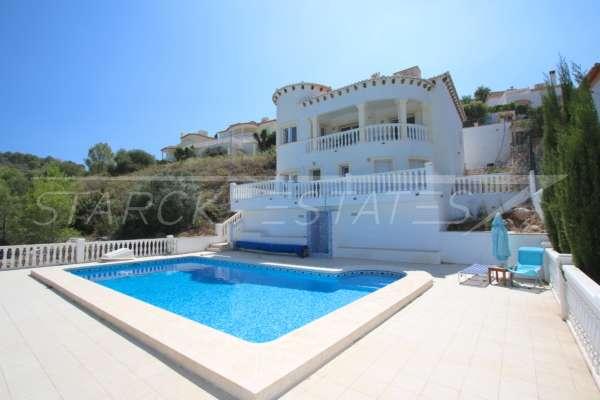 Attraktive 3 SZ Villa in ruhiger Lage mit herrlichem Blick ins Tal und auf das Meer, 03790 Orba (Spanien), Villa