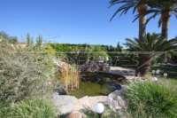 3 Schlafzimmer Villa auf großem Grundstück in ruhiger Ortsrandlage von Els Poblets - Fischteich