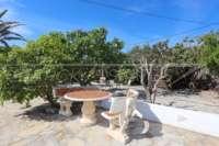 Pompöse Finca zwischen Palmen und Orangenhainen in Ondara - Terrasse