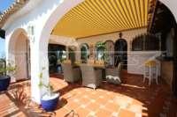 Mediterrane Villa auf privatem Grundstück mit traumhaftem Blick am Monte Pego - Terrasse