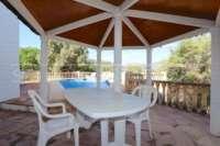 Belle villa avec piscine et vue sur la vallée d'Orba - terrasse couverte