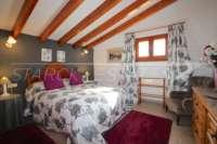 Spacieuse maison de campagne avec une vue imprenable sur le pic de l'Ifach à Benissa - Chambre double