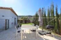 Moderna finca como nueva de estilo mediterráneo en Benidoleig - Terraza casa invitados