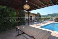 Villa de campagne <> espagnole avec maison d'hôtes à Benidoleig - Terrasse couverte