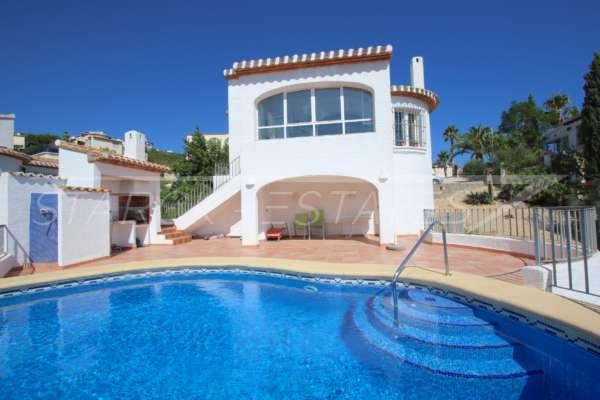 Villa bien entretenue avec 2 chambres dans la meilleure position panoramique sur le Monte Pego, 03789 Dénia (Espagne), Villa