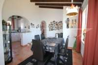 Villa bien entretenue avec 2 chambres dans la meilleure position panoramique sur le Monte Pego - salle à manger
