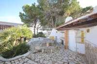Imponente chalet con vistas al mar y habitación de invitados en Denia - Galeretes - Cocina de verano