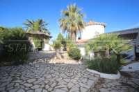 Imponente chalet con vistas al mar y habitación de invitados en Denia - Galeretes - Jardín