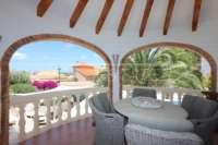 Villa der Extraklasse am Monte Solana in Pedreguer - Überdachte Terrasse