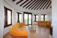 Mediterrane Luxusvilla mit Meerblick am Monte Pego - Wohnzimmer